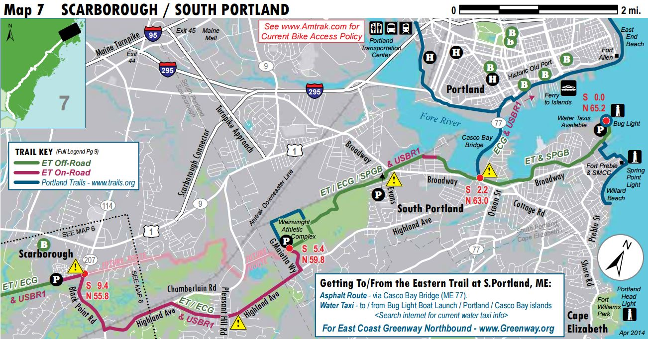 South Portland Greenbelt Path Great Runs