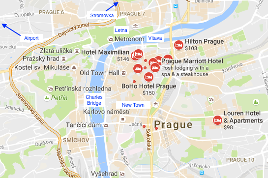 Running in prague czech republic best routes and places for Best location to stay in prague