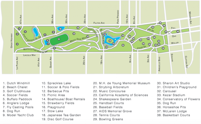 golden-gate-park-map