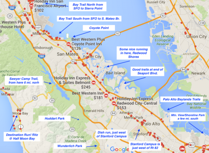 San Francisco Airport to Palo Alto: Key Routes & Hotel Clusters
