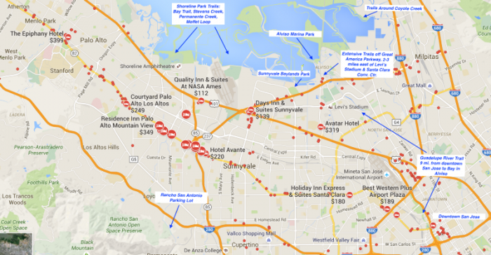 Mountain View to San Jose: Key Routes and Hotel Clusters