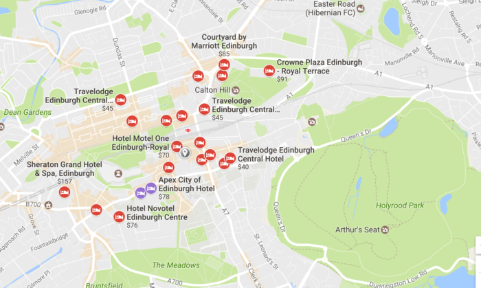 There S A Cer Of Hotels Near Holyrood Park Which Is Great For Running Are Also Regent Gardens And Princes Street At The Foot