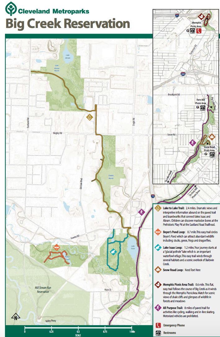 Emerald necklace trails great runs the highlight is the lake to lake trail a 24 mile all purpose trail that connects lake abram to lake isaac start at traihead at brookpark rd publicscrutiny Choice Image