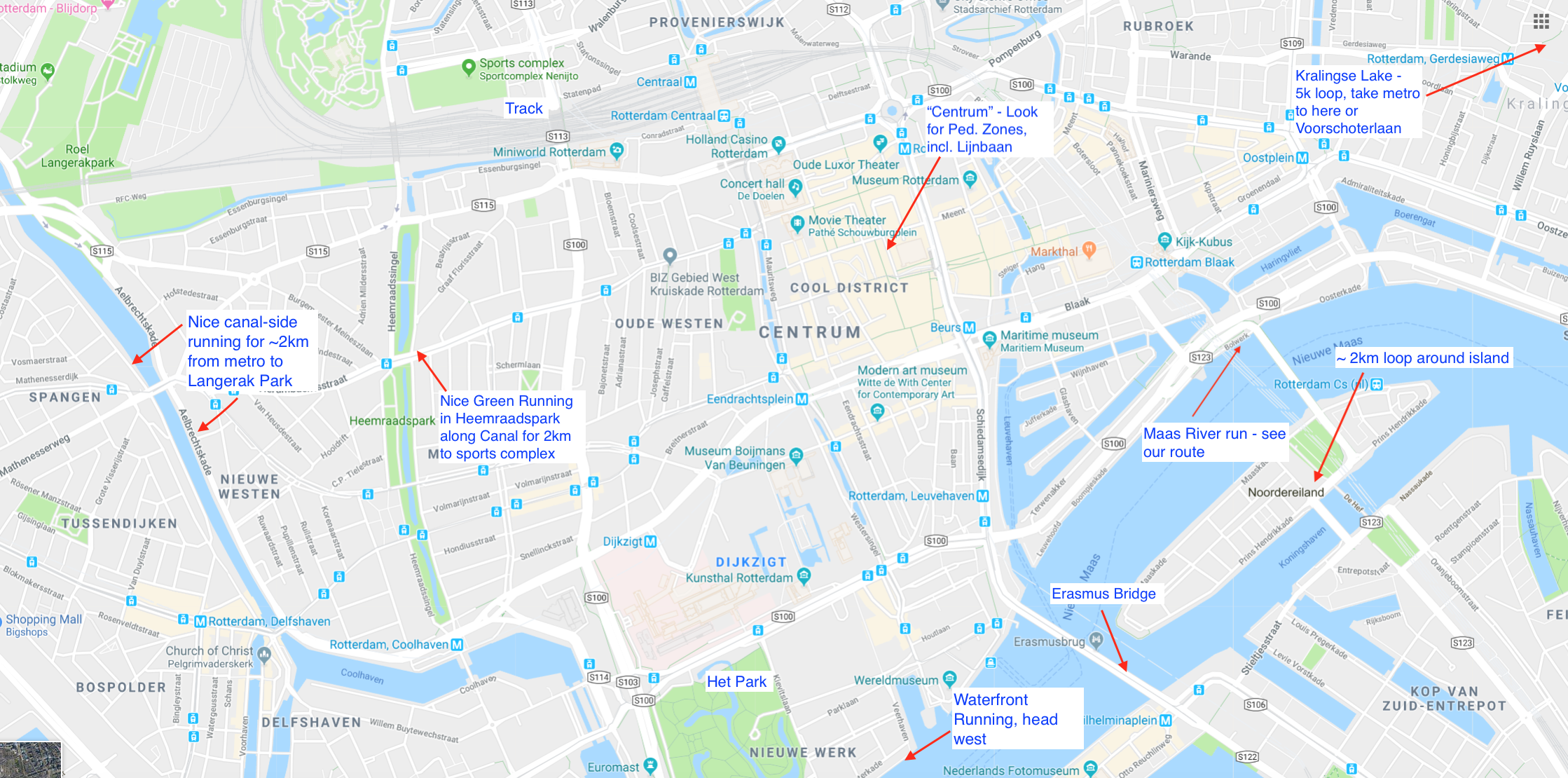 Central Rotterdam Running Options - Great Runs