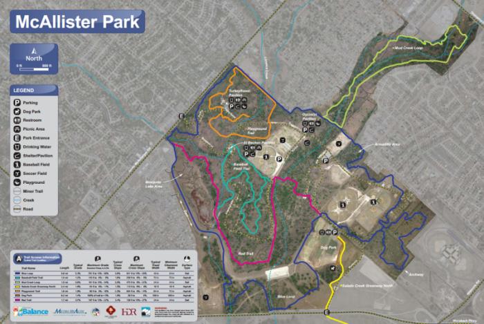 Mcallister Park Map McAllister Park   Great Runs Mcallister Park Map