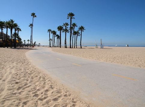 Santa Monica Strand Beach Path