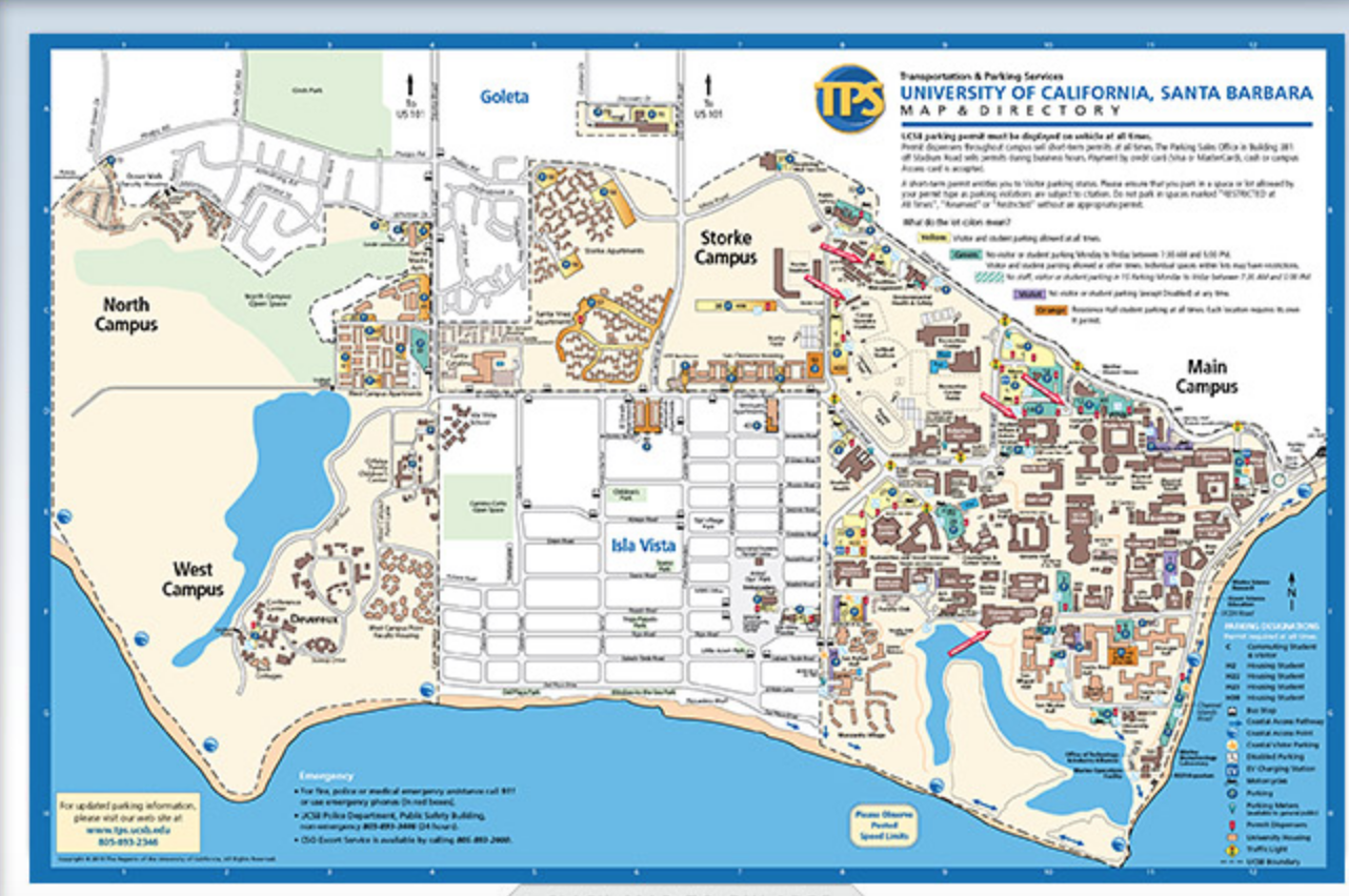 Ucsb Campus Map Running the UC Santa Barbara Campus and Lagoon Trail Ucsb Campus Map