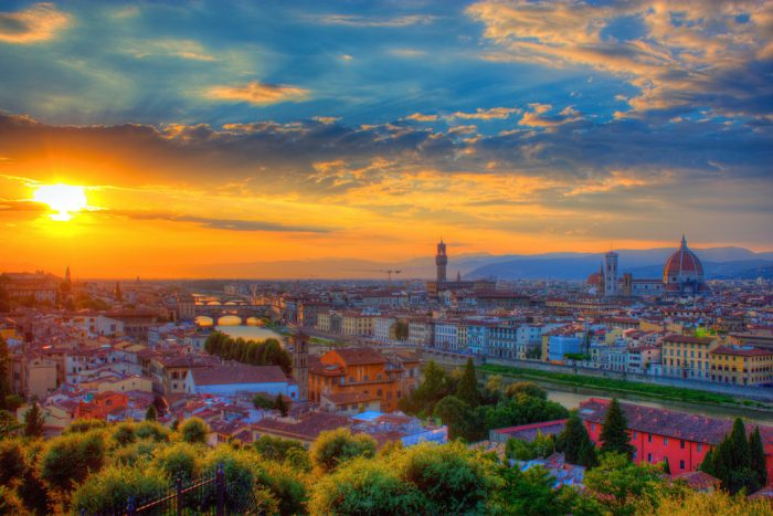 Italian Florence: Run Up To The Piazzale Michelangelo, Florence