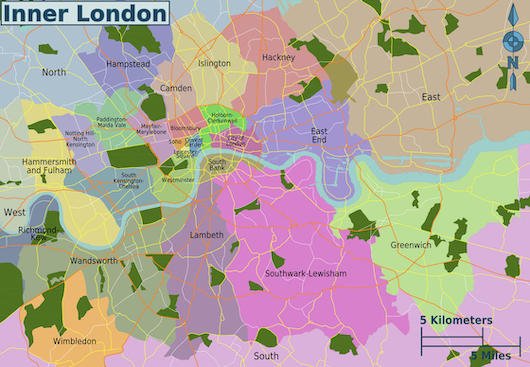London And Suburbs Map.Running In The London Suburbs Best Places To Run London Suburbs